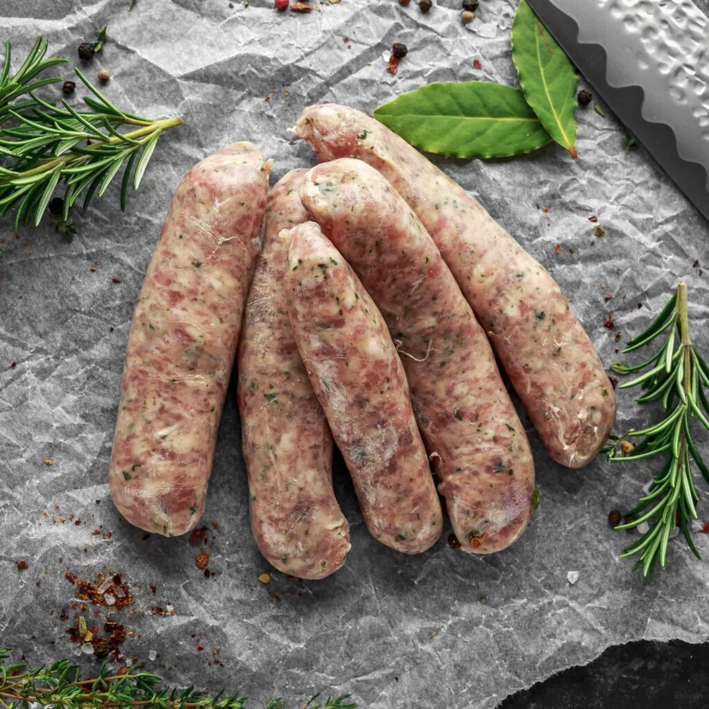 Wiltshire Bacon Cumberland Sausages