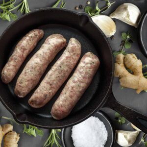 Ginger & Spring Onion Sausages