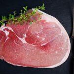 Raw gammon steak